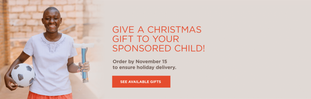 Gifts for your sponsored children