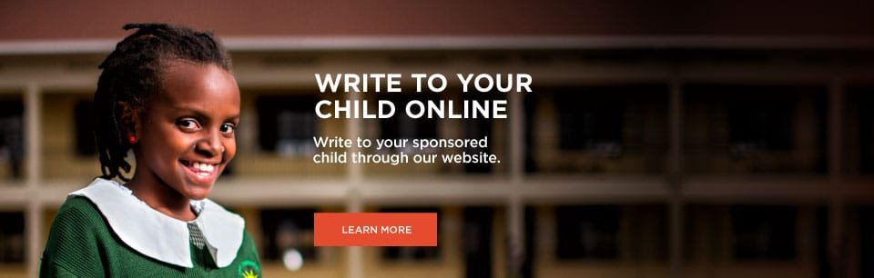 Write to your sponsored child online