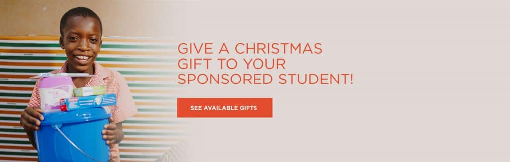 Send your sponsored student a Christmas gift