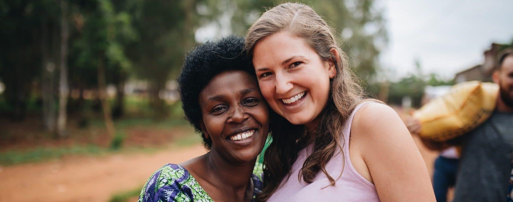 Rwandan and American women together